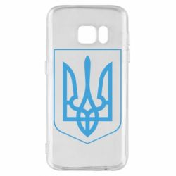 Чехол для Samsung S7 Герб України з рамкою - FatLine