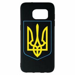 Чехол для Samsung S7 EDGE Герб України з рамкою - FatLine