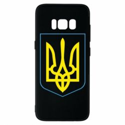Чехол для Samsung S8 Герб України з рамкою - FatLine