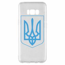 Чехол для Samsung S8+ Герб України з рамкою - FatLine