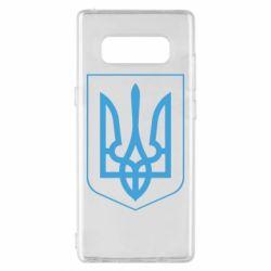 Чехол для Samsung Note 8 Герб України з рамкою - FatLine