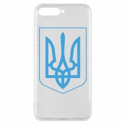 Чехол для Huawei Y6 2018 Герб України з рамкою - FatLine