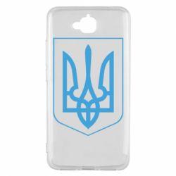 Чехол для Huawei Y6 Pro Герб України з рамкою - FatLine
