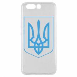 Чехол для Huawei P10 Герб України з рамкою - FatLine
