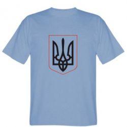 Мужская футболка Герб України з рамкою - FatLine