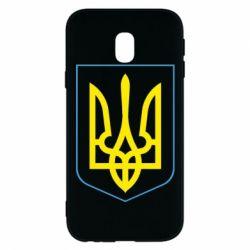 Чохол для Samsung J3 2017 Герб України з рамкою