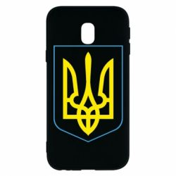 Чехол для Samsung J3 2017 Герб України з рамкою - FatLine