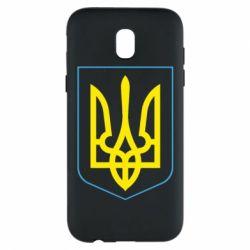 Чехол для Samsung J5 2017 Герб України з рамкою - FatLine