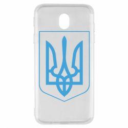 Чохол для Samsung J7 2017 Герб України з рамкою