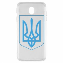 Чехол для Samsung J7 2017 Герб України з рамкою - FatLine
