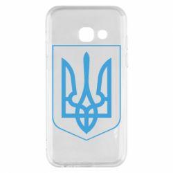 Чехол для Samsung A3 2017 Герб України з рамкою - FatLine