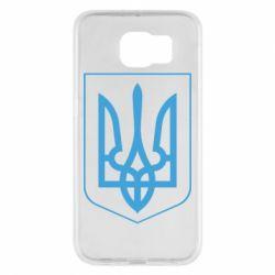 Чехол для Samsung S6 Герб України з рамкою - FatLine