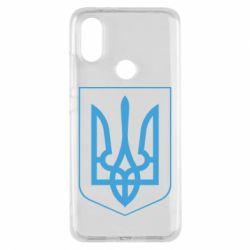 Чехол для Xiaomi Mi A2 Герб України з рамкою