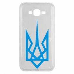 Чехол для Samsung J7 2015 Герб України загострений - FatLine