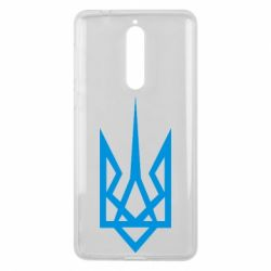 Чехол для Nokia 8 Герб України загострений - FatLine