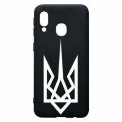 Чохол для Samsung A40 Герб України загострений