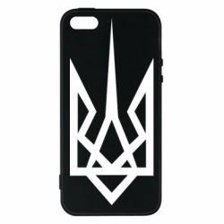 Чехол для iPhone5/5S/SE Герб України загострений - FatLine