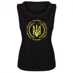 Женская майка Герб України