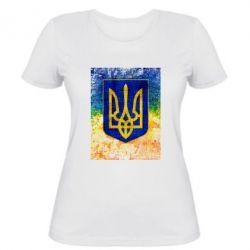 Женская футболка Герб Украины цвет