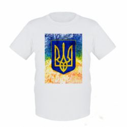 Детская футболка Герб Украины цвет