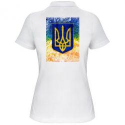 Женская футболка поло Герб Украины цвет