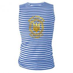 Майка-тельняшка Герб Украины Голограмма