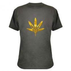 Камуфляжная футболка Герб Украины Каннабис Голограмма