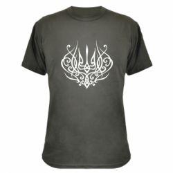 Камуфляжна футболка Герб України монограма