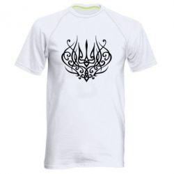 Чоловіча спортивна футболка Герб України монограма