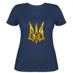Женская футболка Герб Украины новый Голограмма
