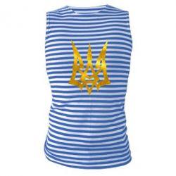 Майка-тельняшка Герб Украины новый Голограмма