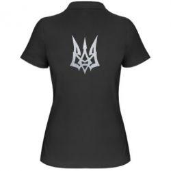 Женская футболка поло Герб Украины новый Голограмма