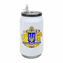 Термобанка 350ml Герб Украины полноцветный