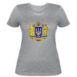 Женская футболка Герб Украины полноцветный - FatLine