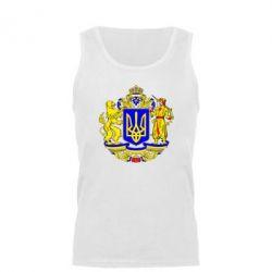 Мужская майка Герб Украины полноцветный - FatLine