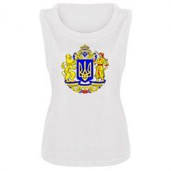 Женская майка Герб Украины полноцветный - FatLine