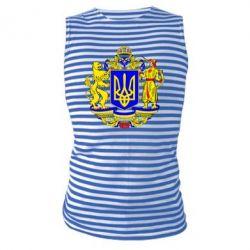 Майка-тельняшка Герб Украины полноцветный - FatLine