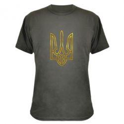 Камуфляжная футболка Герб Украины (полый) Голограмма