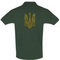 Футболка Поло Герб Украины (полый) Голограмма