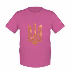 Детская футболка Герб Украины (полый) Голограмма