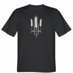 Чоловіча футболка Герб України з колосками пшениці