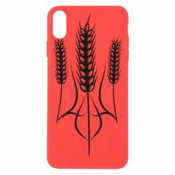 Чохол для iPhone Xs Max Герб України з колосками пшениці