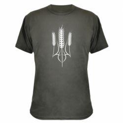 Камуфляжна футболка Герб України з колосками пшениці