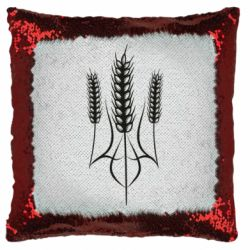 Подушка-хамелеон Герб України з колосками пшениці