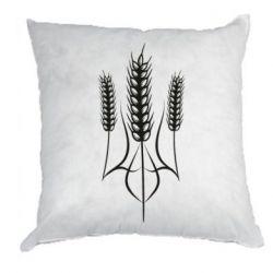 Подушка Герб України з колосками пшениці