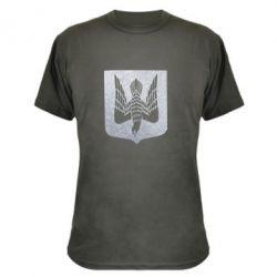 Камуфляжная футболка Герб Украины сокол Голограмма