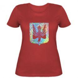 Женская футболка Герб Украины сокол Голограмма