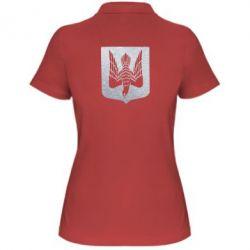 Женская футболка поло Герб Украины сокол Голограмма