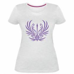 Жіноча стрейчева футболка Герб України у вигляді арфи