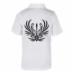 Дитяча футболка поло Герб України у вигляді арфи